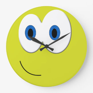 Happy Smiling Face Large Clock
