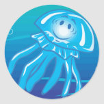 happy smiling jellyfish stickers