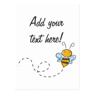 Happy Smiling Jolly Bee Postcard