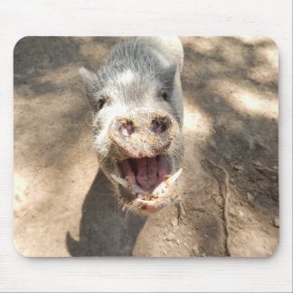 Happy, Smiling Mini Pig Mouse Pad