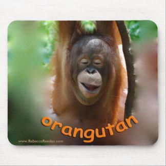 Happy Smiling Orangutan Mouse Pad