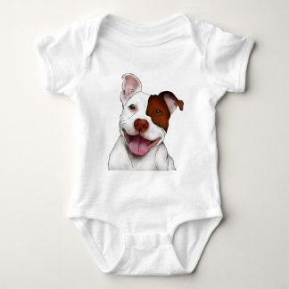 Happy Smiling Pitbull Baby Bodysuit