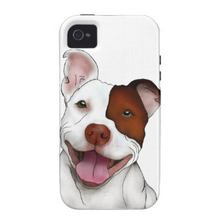 Happy Smiling Pitbull Case-Mate iPhone 4 Cover