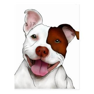 Happy Smiling Pitbull Postcard