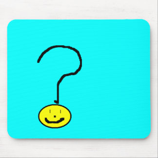 Happy Smiling Question Mark Emoji, Kids Art Mouse Pad