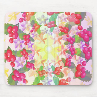 Happy Smiling : Red Berry Garlands Mouse Pad
