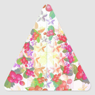 Happy Smiling : Red Berry Garlands Triangle Sticker