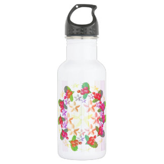 Happy Smiling : Red Berry Garlands Water Bottle