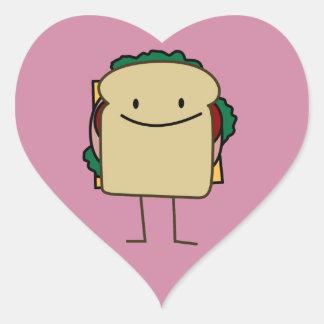 Happy Smiling Sandwich - Classic Heart Sticker