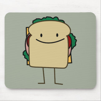 Happy Smiling Sandwich - Classic Mouse Pad