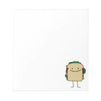 Happy Smiling Sandwich - Classic Notepad