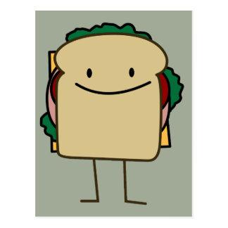 Happy Smiling Sandwich - Classic Postcard