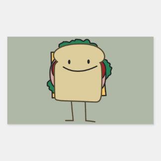 Happy Smiling Sandwich - Classic Rectangular Sticker