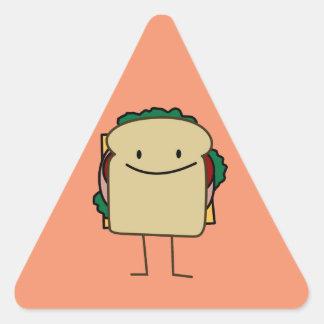 Happy Smiling Sandwich - Classic Triangle Sticker