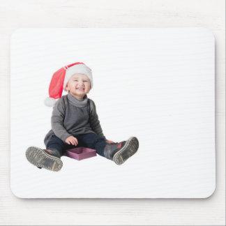 Happy smiling santa baby mouse pad