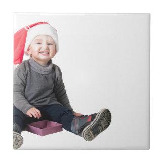 Happy smiling santa baby tiles