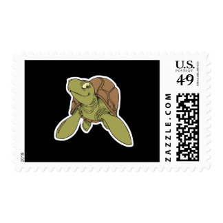 happy smiling sea turtle postage