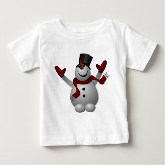 Happy Smiling Snowman with His Arms Up Baby T-Shirt