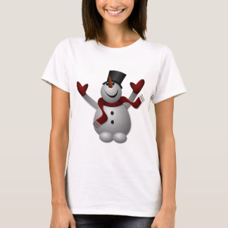 Happy Smiling Snowman with His Arms Up T-Shirt