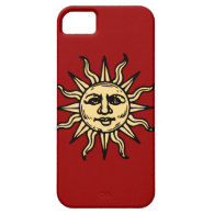 Happy Smiling Sun Black iPhone 5 Case