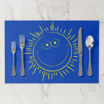 [ Thumbnail: Happy Smiling Sun Character Paper Placemat ]
