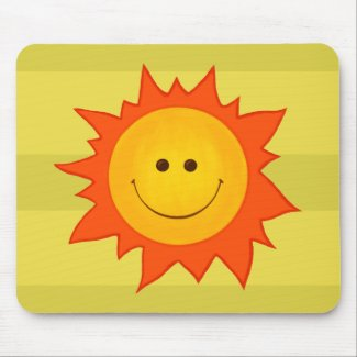 Happy Smiling Sun Mousepads