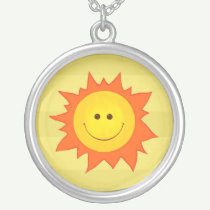 Happy Smiling Sun necklace