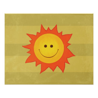 Happy Smiling Sun Poster