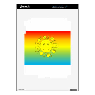 Happy Smiling Sunny Faces, Smiley Emoji Decal For iPad 2