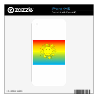 Happy Smiling Sunny Faces, Smiley Emoji Decals For The iPhone 4