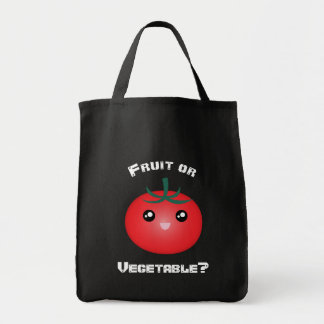 Happy Smiling Tomato Fruit Vegetable Kawaii Emoji Tote Bag