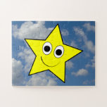 [ Thumbnail: Happy, Smiling, Yellow Star Character + Sky Jigsaw Puzzle ]