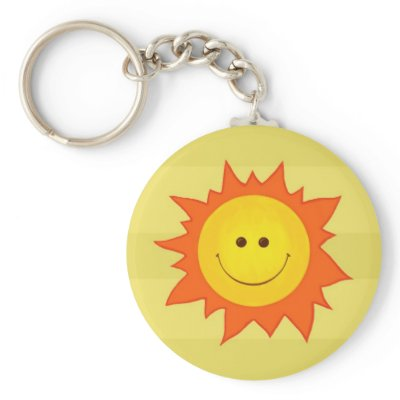 Happy Smilling Sun Keychain