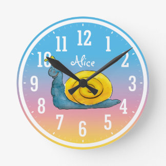 Happy Snail | Cool Gifts Round Clock