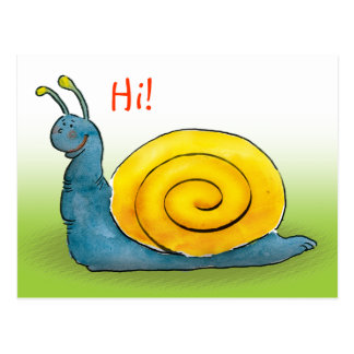 Happy snail | Hi Postcard