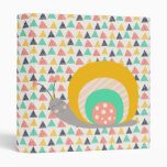 Happy Snail on Triangles 3 Ring Binder