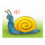 Happy snail - Postcard template