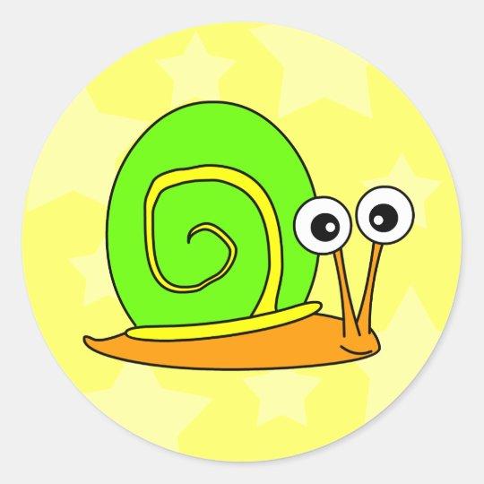 Happy Snail Stickers