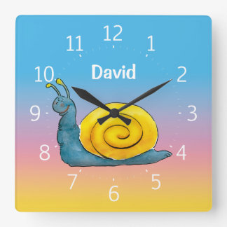 Happy snail - Wall Clock