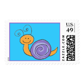 Happy Snails to you...stamp Postage
