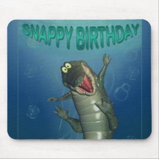 Happy Snappy Birthday crocodile mousepad mouse