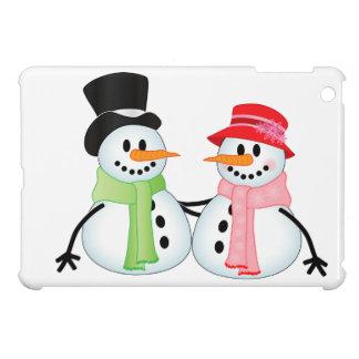 Happy Snow Couple Case For The iPad Mini