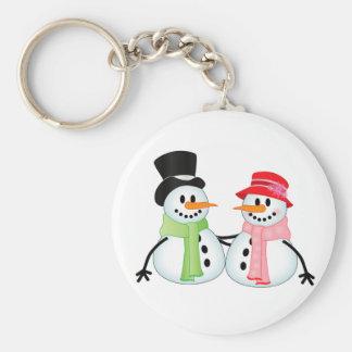 Happy Snow Couple Keychain