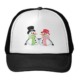 Happy Snow Couple Trucker Hat