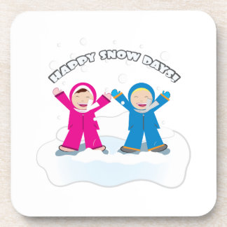 Happy Snow Days Drink Coasters
