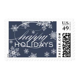 Happy Snowflakes Holiday Postage