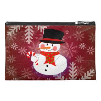 Happy Snowman Travel Accessory Bag