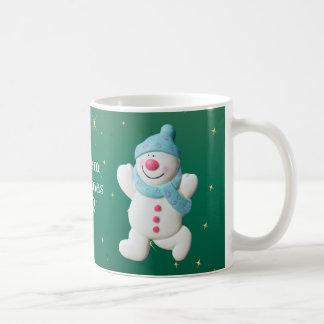 Happy Snowman boys name christmas mug, gift Coffee Mug