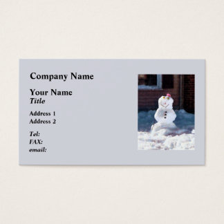 Happy Snowman Business Card