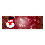 Happy Snowman Business Card Templates